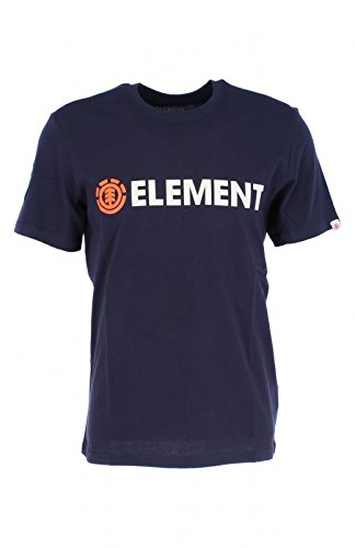 Short Element T-shirt Mens (Element Blazin Short Sleeve T-Shirt Large Eclipse Navy)