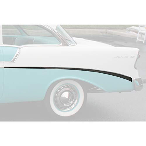Eckler's Premier Quality Products 57-360207 Chevy Rear Quarter Panel Molding, Bel Air, Left, For 2-Door, Show Quality,