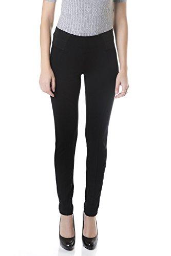 Suko Jeans Womens Pull On Ponte Pants - Skinny Legging 18207 Black Caviar 8