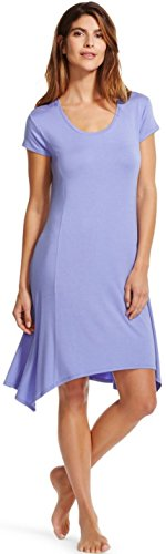 Gilligan and O'Malley Women's Sleepwear Knit Gown (X-Small, Deep Periwinkle) (Periwinkle Nightgown)