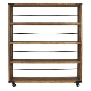 Industrial Mobile Wood Shelf Unit, 70'' x 81'' by Retail Resource