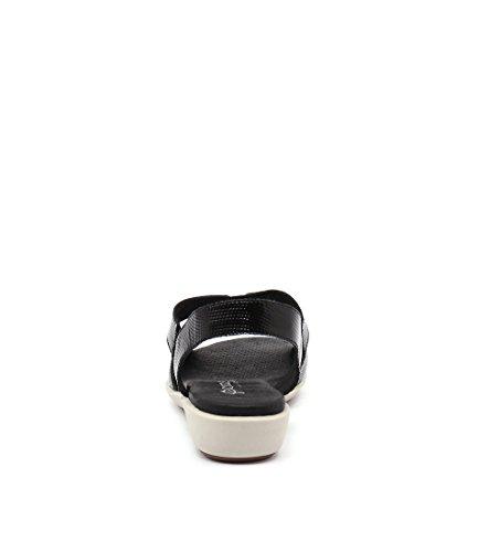 Heels GAMINS Shoes Wedges Black Summer Medium Babich LEATHER PATENT LIZARD Womens BLACK wTTqARX