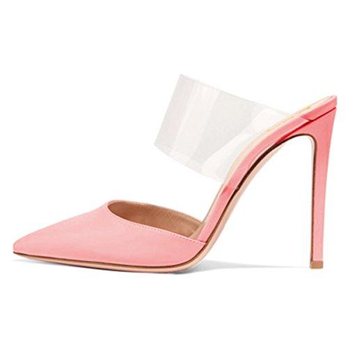 Fsj Donne Strappy Stiletto Tacchi Alti Sandali A Punta Scarpe Da Sera Sexy Taglia 4-15 Us Pink