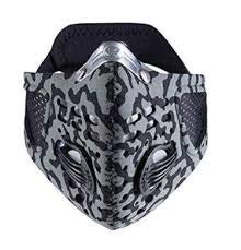 Respro Sportsta Anti-Pollution Mask - Large - Grey/Black Camouflage by Respro