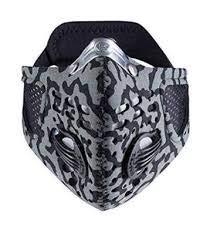 Respro Sportsta Anti-Pollution Mask - Large - Grey/Black Camouflage (Best Mask For Delhi Pollution)