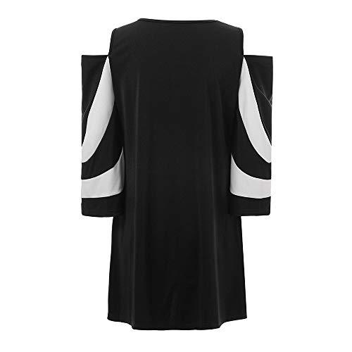 Poche Hors Couture Shirt Tops Stripe T KEERADS Longues Blouse Manches paule Pullover Femmes Froide Lache Noir qxaUwgRpH