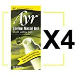 Ayr Saline Nasal Gel with Soothing Aloe, 4 Count