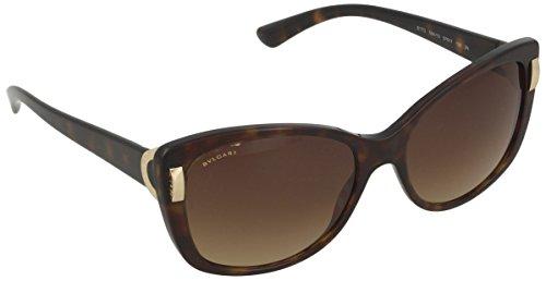 Bvlgari BV8170 504/13 Dark Havana BV8170 Cats Eyes Sunglasses Lens Category 3 - Bvlgari Sunglasses S