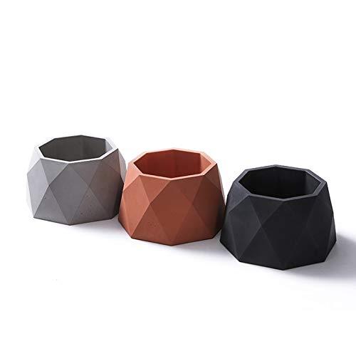Concrete Planter Best Quality - Clay Molds - Octagon Silicone Concrete Mold Home Decoration Clay Crafts Polygon Concrete Planter Cement vase molds - by GTIN - 1 PCs