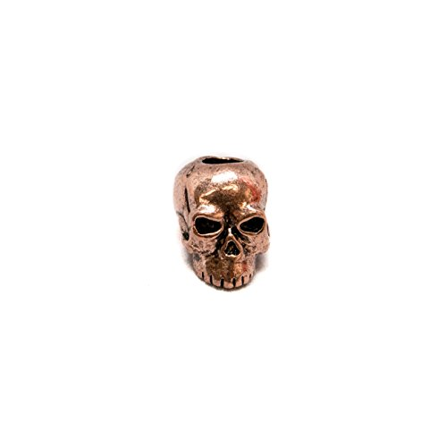 (Schmuckatelli Co. Classic Antique Copper Finish Pewter Skull Bead 3/16)