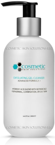 #1 BEST & LUXURIOUS Pore-Refining & Exfoliating Gel Cleanser For Face! Keeps Skin Clean & Clear! Advanced Formula With Hydroxy Acid Blend, 5 Natural Botanicals, LARGE 8 oz / 240 ml Size (Pore Minimizing Gel Cleanser)