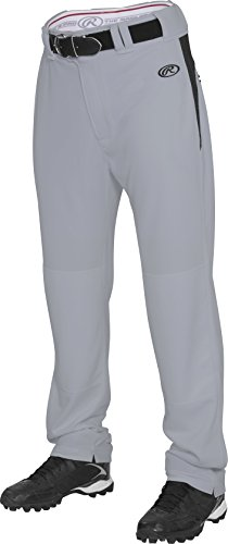 Rawlings  Youth Semi-Relaxed Pants with Waist Inserts, Medium, Grey/Black