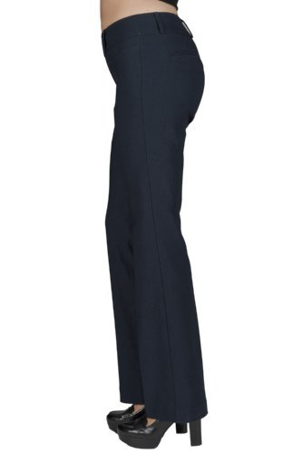 Leveret Women Boot Cut Pants (10 Navy)