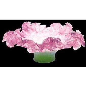 Daum Crystal Roses Footed Bowl 01612 ()