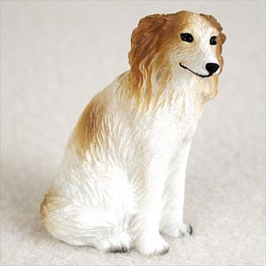Borzoi Figurine (Borzoi Dog Figurine, Height Approx. 2 Inches)