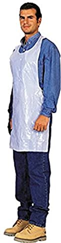 Disposable White Poly Aprons (Case Of 200) - Poly Disposable Aprons
