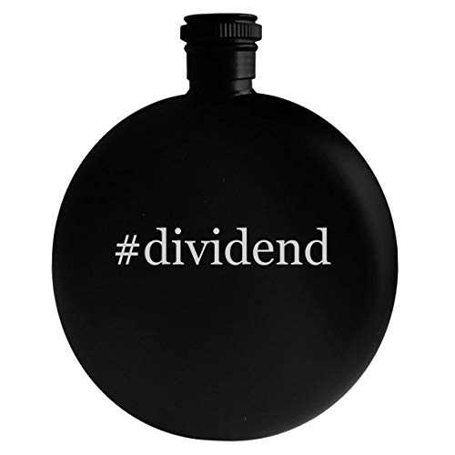 #dividend - 5oz Hashtag Round Alcohol Drinking Flask, Black