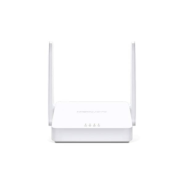 MERCUSYS N300 Wireless WiFi Router MW301R | Two 5dBi Antennas | 300Mbps Wi-Fi Speed | IPv6 Compatible | Parental Control… 2021 July 300Mbps Wi-Fi Speed -300Mbps wireless transmission rate is ideal for basic work Antenna -Two 5dBi antennas provides broad wireless coverage Interface -2 x 10/100Mbps LAN ports; 1 x 10/100Mbps WAN port