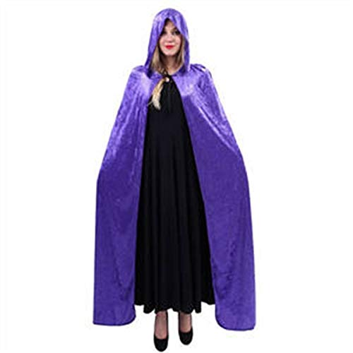 Clothing Accessories Adult Hooded Cloak Halloween Costumes Witch Cape Shawl Hood Fancy Dress Devil Robe Wrap Puncho Mantle for Halloween Party Cosplay Playwear One Size Make Clothing More Individual -