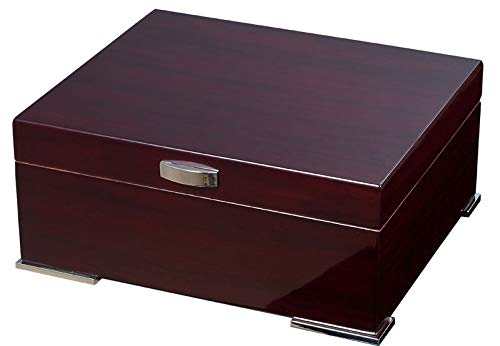 Visol Xander Burgundy Wood Humidor Gift Set with Case and Cutter with Free Laser Engraved Metal Plate (Text) by Visol (Image #7)