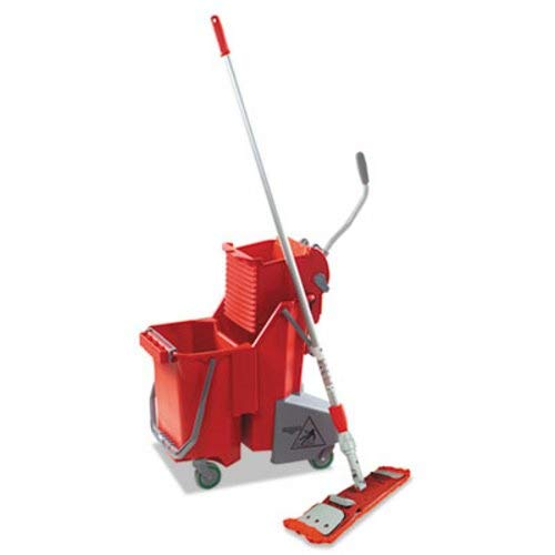 Unger Side-Press Restroom Mop Bucket FloorPack UNG SMFPR ()