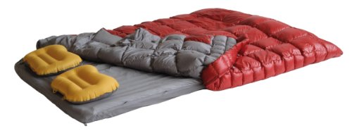 EXPED DreamWalker 400 Duo Comforter (Red/Gray, Long Wide), Outdoor Stuffs