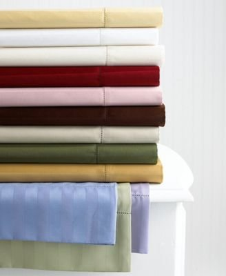 Charter Club Damask Stripe King Sheet Set Natural ()