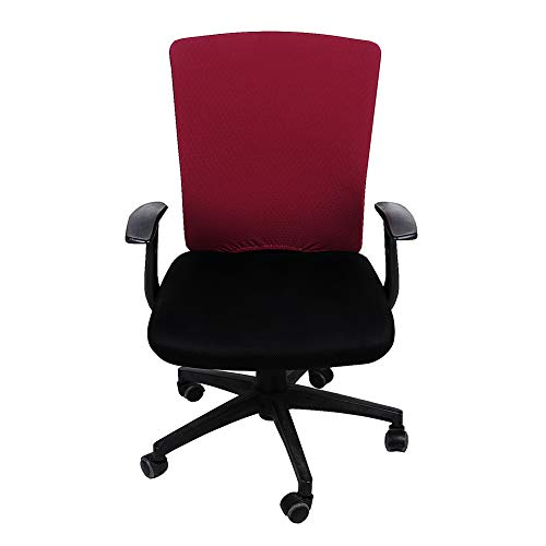 - Homaxy Premium Jacquard Office Computer Chair Backrest Protectors, Stretchable Rotating Desk Chair Covers, Fit Rectangle Design Chair Back Rest, Burgundy Slipcover