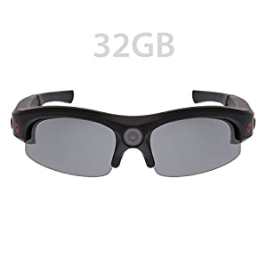 iVUE Horizon 1080P HD Camera Glasses Video Recording Sport Sunglasses DVR Eyewear (1080P @ 30fps, 720P @ 60fps, Wide Angle), 32GB