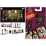 (Creep Friends Fright Go! Uno Card Game Nightmare Before Christmas Classic Matching + Bundled with Character Jack Skellington Halloweentown Mega Mini Figure Pack Sally / Boogie Boogie / Zero Ghost)