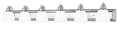 Livex Lighting 10506-05 Chrome Bath Vanity with Satin Opal Glass