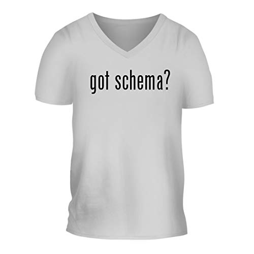 got Schema? - A Nice Men's Short Sleeve V-Neck T-Shirt Shirt, White, - Handbook Xml