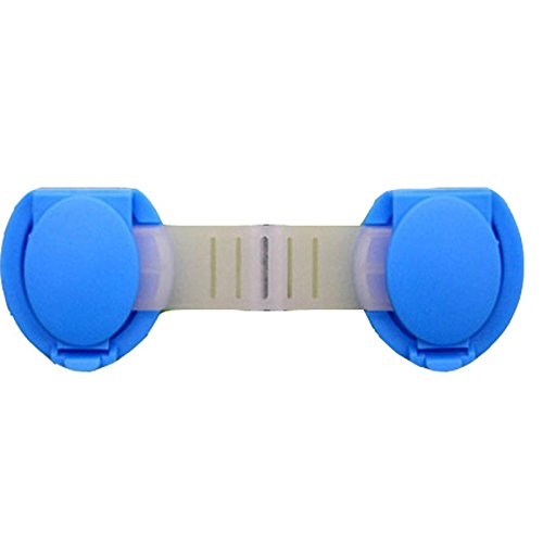 Outdoor Furniture Straps - 10Pcs/Lot Child Lock Protection Of Children Locking Doors For Children's Safety Kids Safety Plastic Lock For Child - Patio Furniture Strap (Blue) (Ups Christmas Hours Eve)