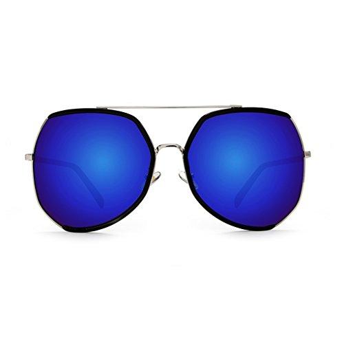 マークつかまえるメンバーYUBIN 新しいラージボックスサングラス女性の潮の人格サングラス長い円形の顔スターモデル偏光眼鏡 (色 : C)