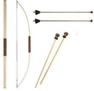 Pfeil und Bogen mit 2x Saugnapfpfeil u. 2x gepolsterter Pfeil f. Kinder Vah Spielzeugmanufaktur
