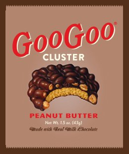 Peanut Butter Marshmallow Bars - Goo Goo Clusters Peanut Butter Candy Bar - 1.5 Ounce Bars - 12 Count Case