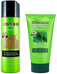 Naturtint Bundle Shampoo For Color-Treated Natural Hair 7.04 fl oz and Nutrideep Multiplier, cream 5.28 oz by Naturtint