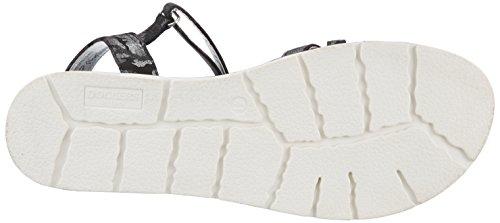 Gerli Mujer para 40ca615 Gladiador Dockers Schwarz Sandalias Silber 680155 de by 155 Negro Bwxnq5OS