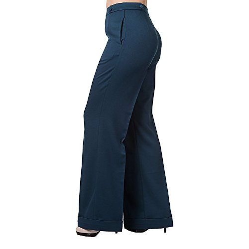 Banned-Womens-Party-On-Petrol-Blue-Trousers