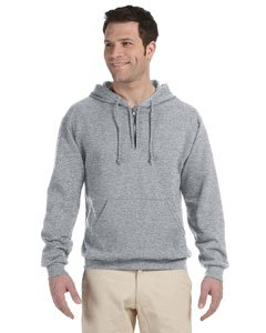 Jerzees Mens NuBlend 50/50 Fleece Quarter-Zip Pullover Hood (994MR) -OXFORD -M