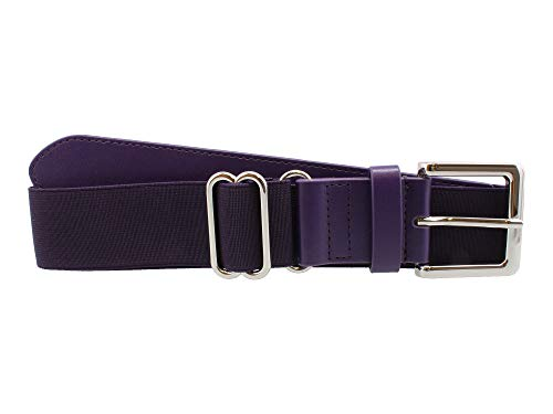 MadSportsStuff Performance Baseball Softball Belt (Adult, Purple)