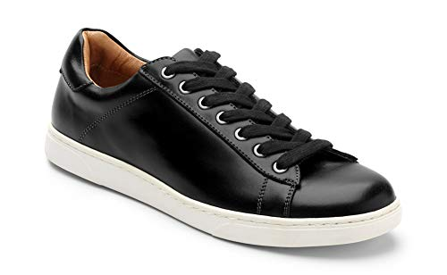 Vionic Men's Mott Baldwin Lace-up Sneaker - Leather Shoes for Men with Concealed Orthotic Support Black 9 M US