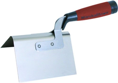 MARSHALLTOWN The Premier Line 50D 5-Inch by 3-1/2-Inch Bullnose Outside Corner Trowel with DuraSoft Handle