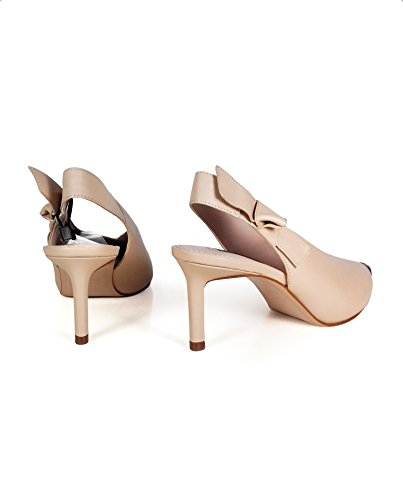 Uterque Women Slingback shoes with metal toe detail 4041/351 (38 EU | 7.5 US | 5 UK) by Uterque (Image #2)