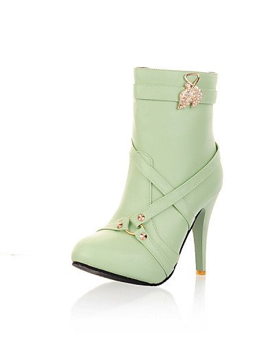 Zapatos Semicuero us5 De A Botas Oficina Tacón Casual Eu35 La Marrón Moda Trabajo Xzz Mujer Uk3 Y Negro Cn34 Vestido Black Stiletto w6nq4wSd