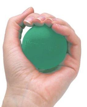 TheraBand Hand Exerciser Squeeze Ball (Green - Medium, Standard)