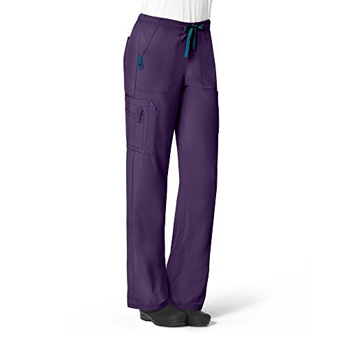Carhartt Scrubs C52110 Women's Force Cross-Flex Utility Boot Cut Scrub - Medium Regular - Eggplant by Carhartt