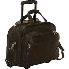 (Piel Leather Laptop Office On Wheels, Chocolate)