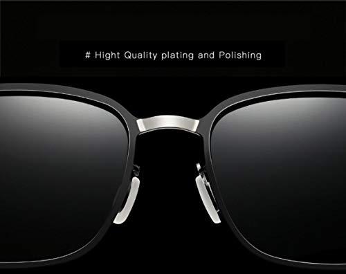 Le pour Style Soleil De Protège Or Lunettes Homme Noir gray Classique Polarisée UV 400 Pilote Etc fpazq
