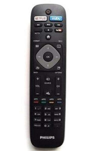 OEM Philips Remote Control Originally Shipped With: 55PFL5901, 55PFL5901/F7, 50PFL5601, 50PFL5601/F7, 55PFL5601, 55PFL5601/F7 (Smart Philips Remote Tv)